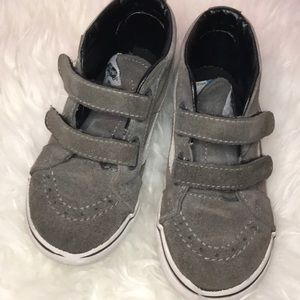 Vans grey kids in high tops size 10